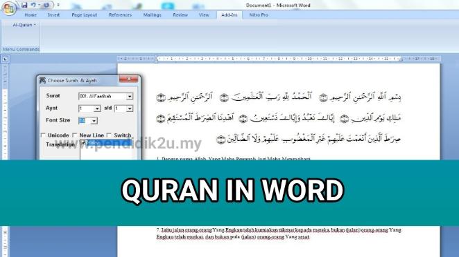 Muat Turun Quran in Word