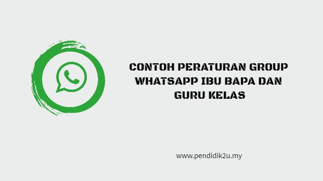 Peraturan Group Whatsapp Ibu Bapa