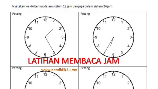 Latih Tubi Membaca Jam