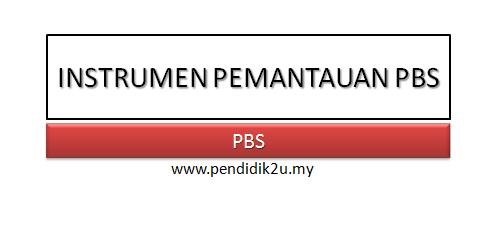 Instrumen Pemantauan PBS Jemaah Nazir