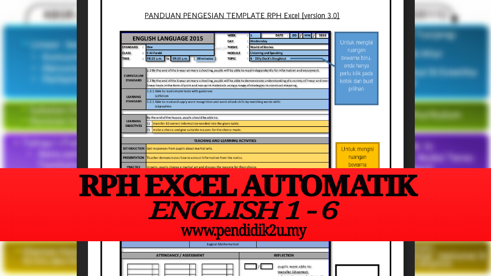 RPH Excel Automatik English Tahun 1-6