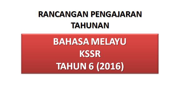 RPT Bahasa Melayu Tahun 6 KSSR 2016
