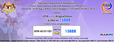 CARA SEMAK UPSR GUNA SMS