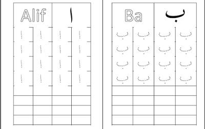 Latihan Menulis Huruf Jawi Tunggal