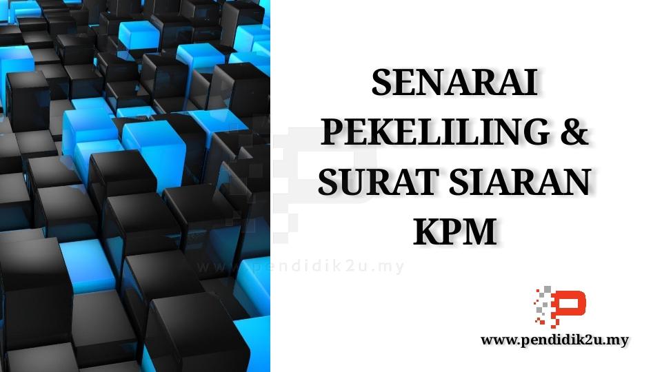 Senarai Pekeliling KPM Yang Penting