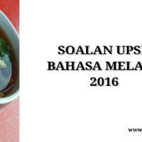 Soalan UPSR Bahasa Melayu