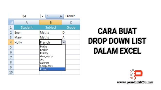 Cara Buat Drop Down List di Excel