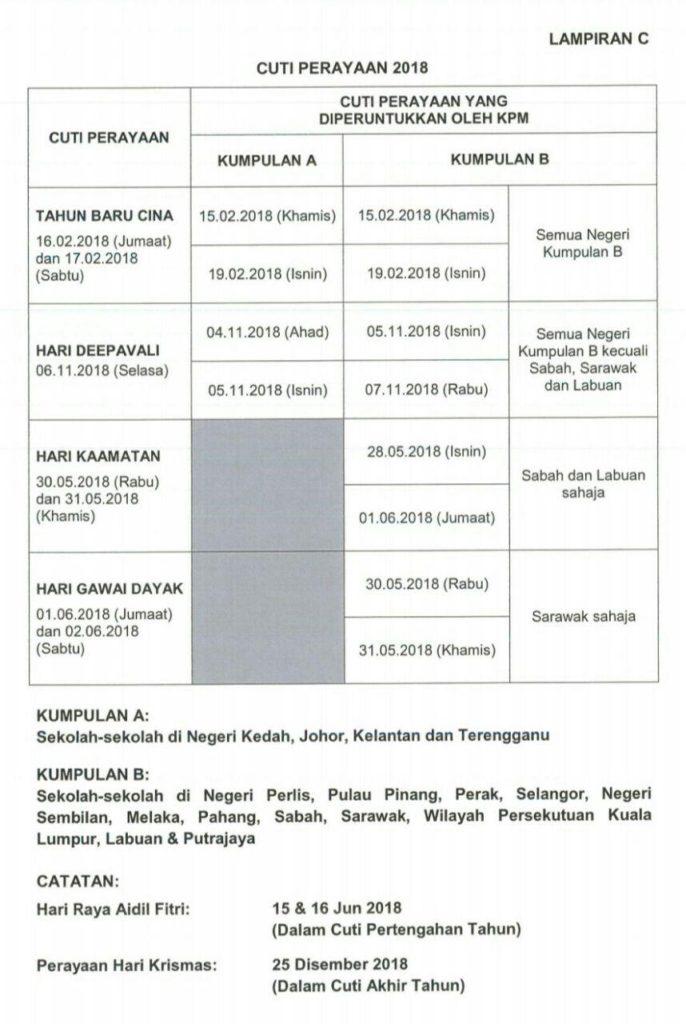 Cuti Sekolah Di Malaysia 2019 Kronis R