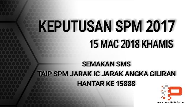 Keputusan SPM 2017 Diumum 15 Mac