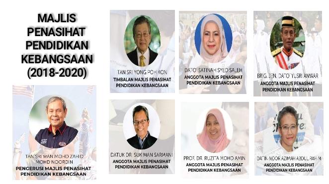 Senarai Ahli Majlis Penasihat Pendidikan Kebangsaan Mppk 2018 2020 Pendidik2u