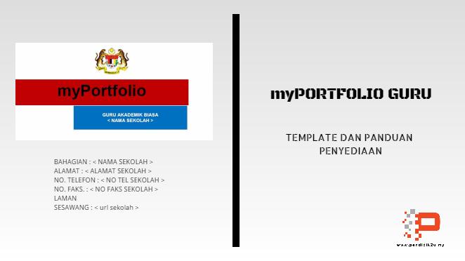 Contoh Myportfolio Guru Template Dan Panduan Pendidik2u