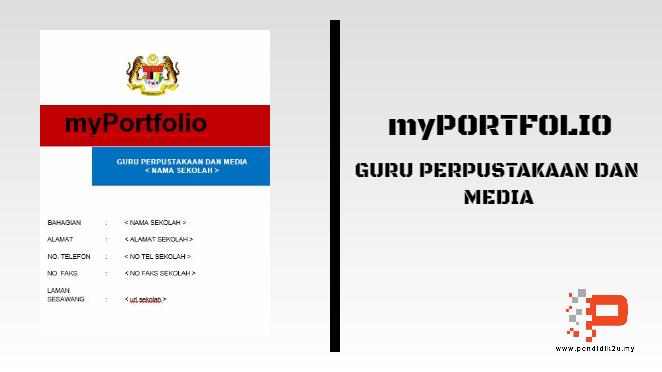 myPortfolio Guru Perpustakaan dan Media (Template dan Panduan)