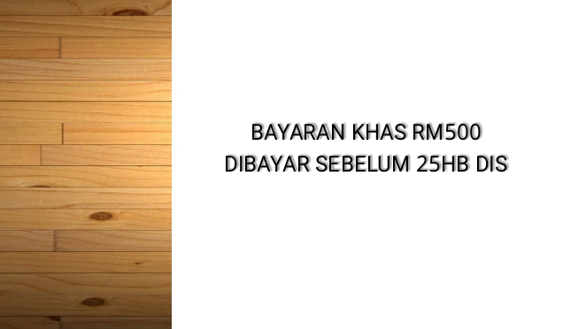 Bayaran Khas RM500 Dibayar 18 Dis