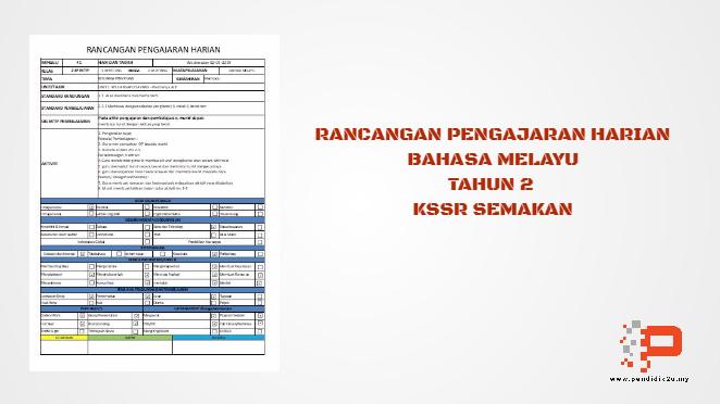 RPH Bahasa Melayu Tahun 2 KSSR Semakan