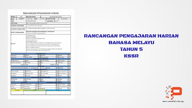 RPH Bahasa Melayu Tahun 5 KSSR Excel