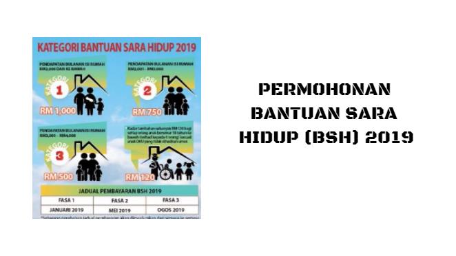 Permohonan Bantuan Sara Hidup (BSH) 2019