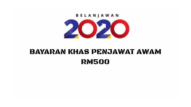Bayaran Khas Penjawat Awam RM500