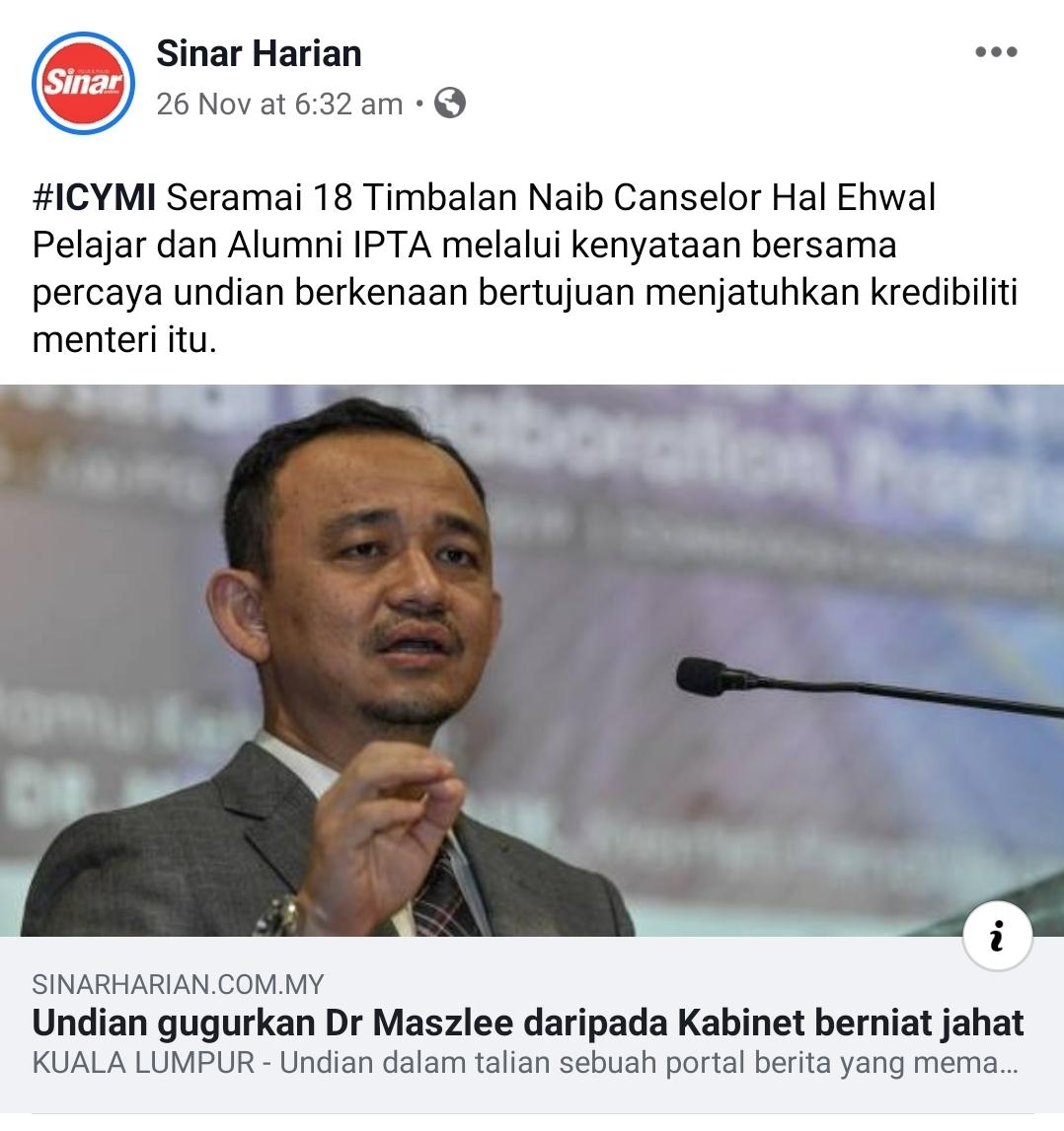 Sokong menteri pendidikan