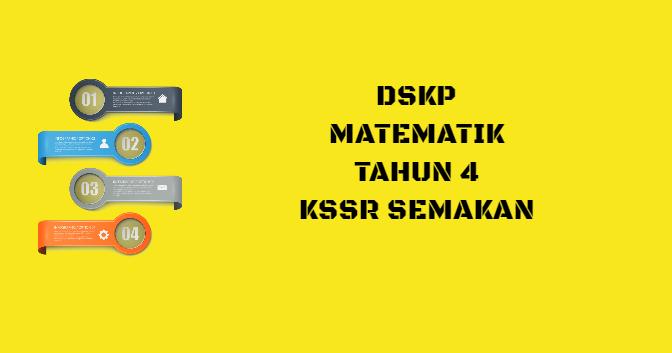 DSKP Matematik Tahun 4 KSSR Semakan
