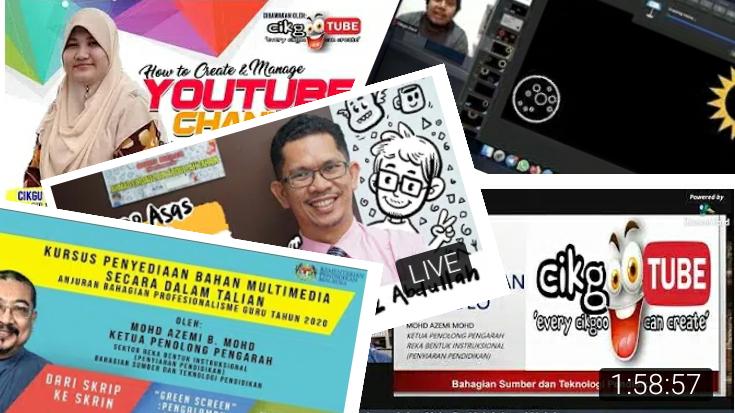 Video kursus yang guru boleh sertai di Channel Cikgootube