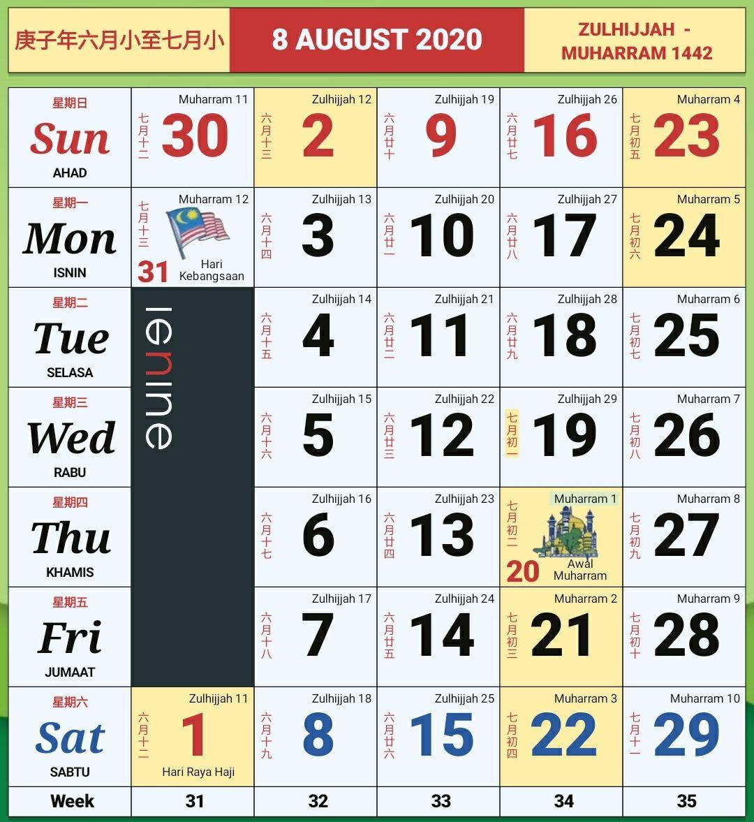 Cuti Sekolah Bulan 8
