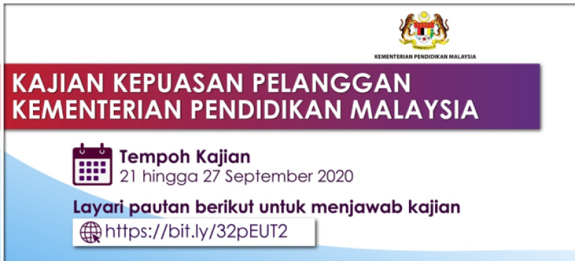 Kajian Kepuasan Pelanggan Kementerian Pendidikan Malaysia 2020