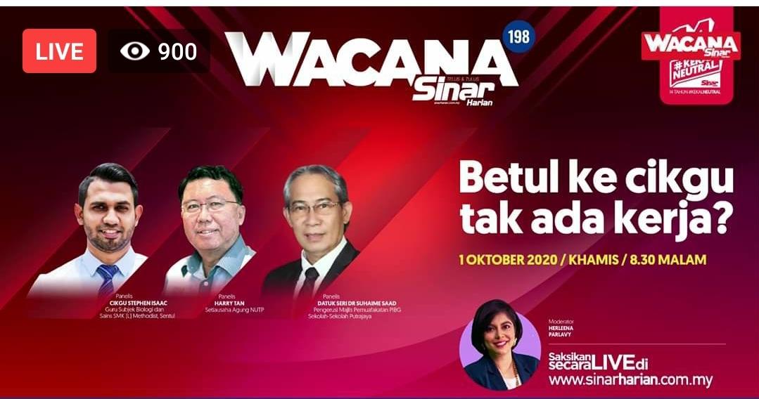 """LIVE: Wacana """"Betul ke Cikgu Tak Ada Kerja?"""""""