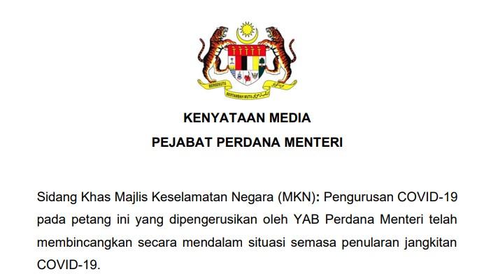 Kenyataan Media PKP 3.0