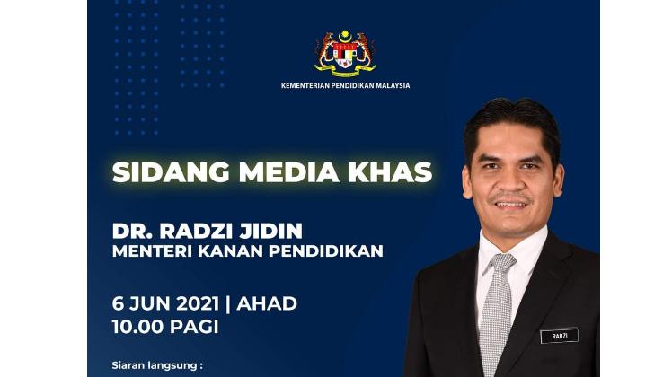 Live Sidang Menteri Kanan Pendidikan 6 Jun 2021