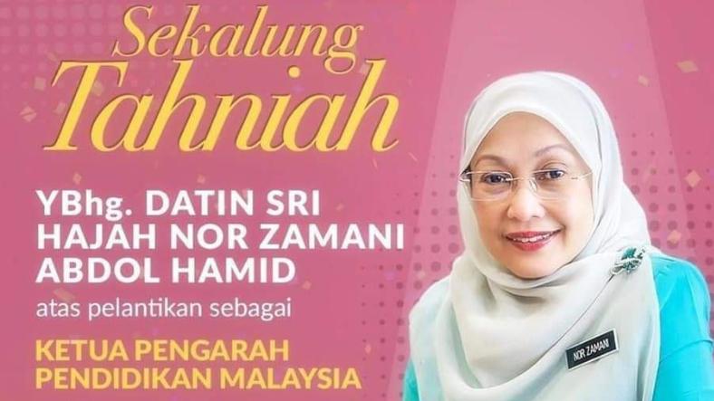 Kenyataan Media Pelantikan Ketua Pengarah Pendidikan Malaysia Baharu